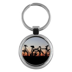 Bicycles Wheel Sunset Love Romance Key Chains (round)