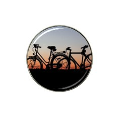Bicycles Wheel Sunset Love Romance Hat Clip Ball Marker (10 Pack)