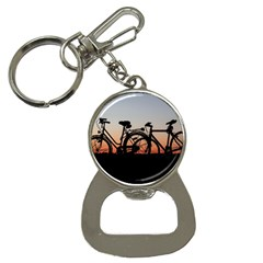 Bicycles Wheel Sunset Love Romance Button Necklaces