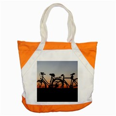 Bicycles Wheel Sunset Love Romance Accent Tote Bag