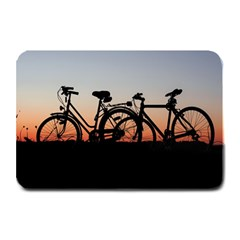 Bicycles Wheel Sunset Love Romance Plate Mats