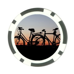 Bicycles Wheel Sunset Love Romance Poker Chip Card Guards