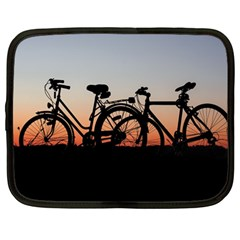 Bicycles Wheel Sunset Love Romance Netbook Case (Large)