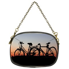 Bicycles Wheel Sunset Love Romance Chain Purses (one Side)