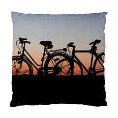 Bicycles Wheel Sunset Love Romance Standard Cushion Case (two Sides)