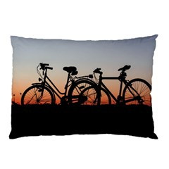Bicycles Wheel Sunset Love Romance Pillow Case