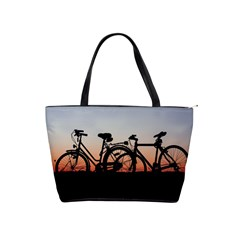 Bicycles Wheel Sunset Love Romance Shoulder Handbags