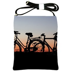 Bicycles Wheel Sunset Love Romance Shoulder Sling Bags