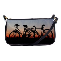 Bicycles Wheel Sunset Love Romance Shoulder Clutch Bags