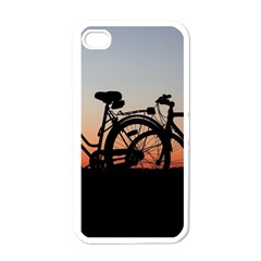 Bicycles Wheel Sunset Love Romance Apple Iphone 4 Case (white)