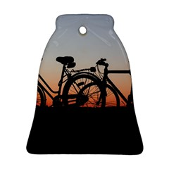 Bicycles Wheel Sunset Love Romance Bell Ornament (2 Sides)