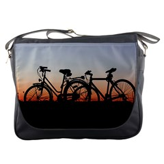 Bicycles Wheel Sunset Love Romance Messenger Bags