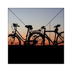 Bicycles Wheel Sunset Love Romance Acrylic Tangram Puzzle (6  X 6 )