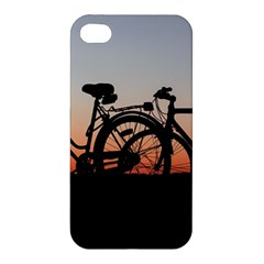 Bicycles Wheel Sunset Love Romance Apple Iphone 4/4s Premium Hardshell Case