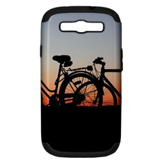 Bicycles Wheel Sunset Love Romance Samsung Galaxy S Iii Hardshell Case (pc+silicone)