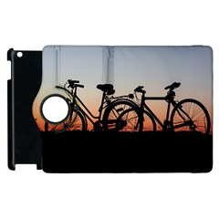Bicycles Wheel Sunset Love Romance Apple Ipad 3/4 Flip 360 Case