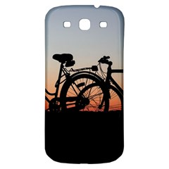 Bicycles Wheel Sunset Love Romance Samsung Galaxy S3 S Iii Classic Hardshell Back Case