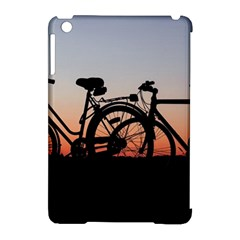 Bicycles Wheel Sunset Love Romance Apple Ipad Mini Hardshell Case (compatible With Smart Cover)