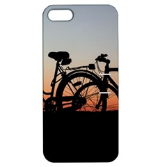 Bicycles Wheel Sunset Love Romance Apple Iphone 5 Hardshell Case With Stand