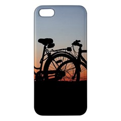 Bicycles Wheel Sunset Love Romance Apple Iphone 5 Premium Hardshell Case