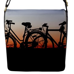 Bicycles Wheel Sunset Love Romance Flap Messenger Bag (s)