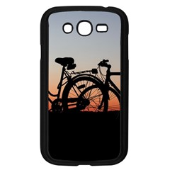 Bicycles Wheel Sunset Love Romance Samsung Galaxy Grand Duos I9082 Case (black)