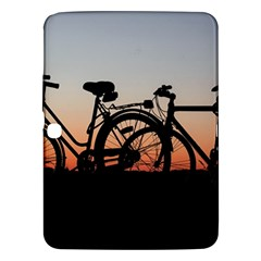 Bicycles Wheel Sunset Love Romance Samsung Galaxy Tab 3 (10 1 ) P5200 Hardshell Case