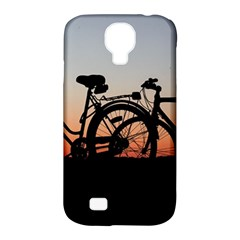 Bicycles Wheel Sunset Love Romance Samsung Galaxy S4 Classic Hardshell Case (pc+silicone)