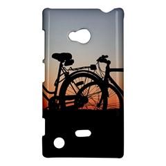 Bicycles Wheel Sunset Love Romance Nokia Lumia 720