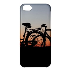 Bicycles Wheel Sunset Love Romance Apple Iphone 5c Hardshell Case