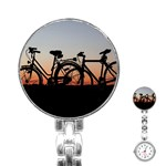 Bicycles Wheel Sunset Love Romance Stainless Steel Nurses Watch Front