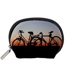 Bicycles Wheel Sunset Love Romance Accessory Pouches (small)