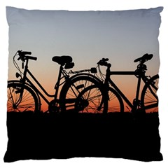 Bicycles Wheel Sunset Love Romance Standard Flano Cushion Case (one Side)