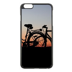 Bicycles Wheel Sunset Love Romance Apple Iphone 6 Plus/6s Plus Black Enamel Case
