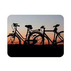 Bicycles Wheel Sunset Love Romance Double Sided Flano Blanket (mini)