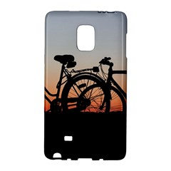 Bicycles Wheel Sunset Love Romance Galaxy Note Edge