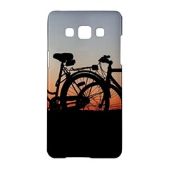 Bicycles Wheel Sunset Love Romance Samsung Galaxy A5 Hardshell Case