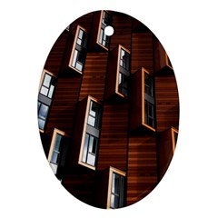 Abstract Architecture Building Business Ornament (Oval)