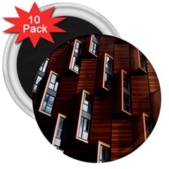 Abstract Architecture Building Business 3  Magnets (10 Pack)