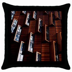 Abstract Architecture Building Business Throw Pillow Case (black)