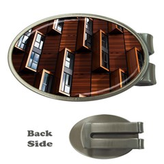 Abstract Architecture Building Business Money Clips (oval)