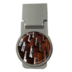 Abstract Architecture Building Business Money Clips (round)