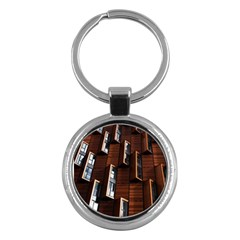 Abstract Architecture Building Business Key Chains (round)
