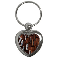 Abstract Architecture Building Business Key Chains (heart)