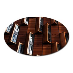 Abstract Architecture Building Business Oval Magnet