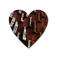 Abstract Architecture Building Business Heart Magnet