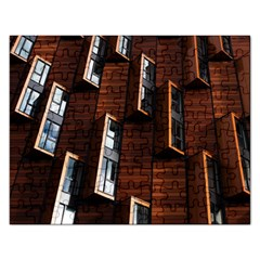 Abstract Architecture Building Business Rectangular Jigsaw Puzzl