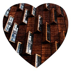Abstract Architecture Building Business Jigsaw Puzzle (heart)