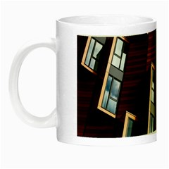 Abstract Architecture Building Business Night Luminous Mugs