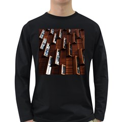 Abstract Architecture Building Business Long Sleeve Dark T Shirts